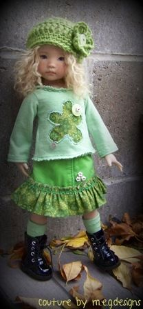 applique shirt, matching skirt with ruffle         I love the clothes on this website.