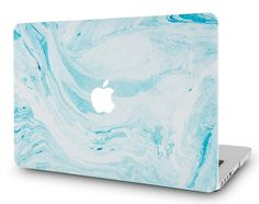 Macbook Case | Marble Collection - Blue White Marble 1