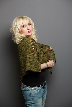 Good Luck Shawl by Alice Twain - lacy eyelet half-octagon shawl knit with Waterloo Wools Kirkland