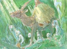 Boceto original de 'La Princesa Mononoke' (Hayao Miyazaki, 1997)