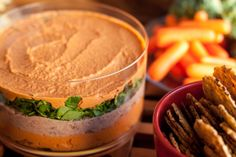 Vegan and Gluten-Free Sun-Dried Tomato and Chili-Walnut Layered Dip