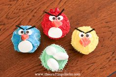 Angry Birds Cupcakes-I made these for my son's 9th birthday...They were a hit!