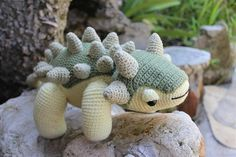 Ankylosaurus Crochet Amigurumi by createknit on Etsy, $30.00  Aidan would have loved this when he was in his dinosaur stage! Much safer than the plastic version, especially when left on the floor of little children's rooms so Mommy steps on it with her big bare feet.
