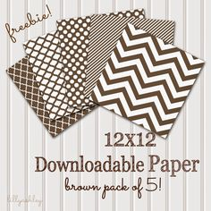 Make it Create by LillyAshley...Freebie Downloads: Friday Freebies...Brown Chevron & More!