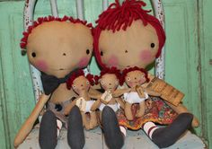 Mother's Day gifts Family Rules Raggedy Ann by oldragdollcupboard