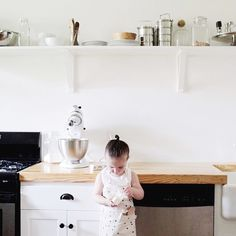 A gorgeous pic of Jane in the Navy Stars Apron helping her mum, Amanda in the kitchen. If you haven't discovered @amandajanejones work head over and check out her beautiful feed. She has an amazing eye and inspires all that is homey and lovely. #owbrooklyn #amandajanejones #kidscookingupastorm
