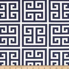 Premier Prints Towers Navy Blue Fabric