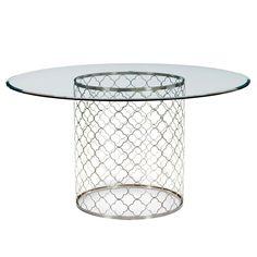 "Regina Andrew Mosaic Polished Nickel Dining Table 56"" Dia x 30""H Polished nickel finish Wipe"