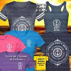 Proud Navy Mom Shirts - My DAUGHTER My Hero My Sailor Shirts. Great design by NavyMomShirts.com