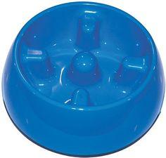 Dogit Blue Go Slow Anti-Gulping Dog Bowl, X-Small