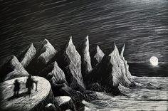 Lovecraft Illustration on Behance Mystery, Hp Lovecraft, School Projects, Illustration, Batman, Behance, Art, Asian Paints, Antarctica