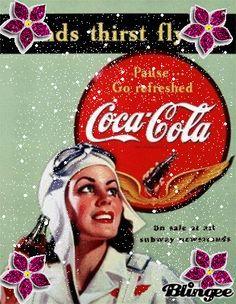 vintage coco cola poster