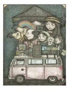 "This is my bestie Patric. His art is AMAZING! For shiz! Go check it out! ""The Bus"" by Patric C. Bates"