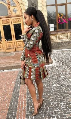 Ankara Short Gowns For Ladies Most stylish collection of ankara short gown styles of 2019 trending today, try these short ankara gown styles African Fashion Ankara, Ghanaian Fashion, Latest African Fashion Dresses, African Dresses For Women, African Print Dresses, African Print Fashion, African Attire, Nigerian Fashion, African Tops