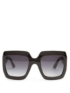71ff22e73ef Gucci Oversized square-frame sunglasses Womens Glasses Frames