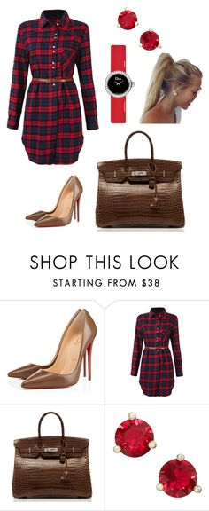 """""""Untitled #528"""" by miss-vs ❤ liked on Polyvore featuring Christian Louboutin, Hermès, Kate Spade and Dior Timepieces"""