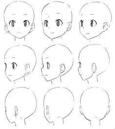 Pin de haille gentry en anime en 2019 art sketches, drawings y manga drawin Drawing Heads, Drawing Base, Anime Drawings Sketches, Anime Sketch, Pencil Drawings, Manga Drawing Tutorials, Art Tutorials, Drawing Hair Tutorial, Drawing Reference Poses