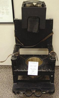 This chair was designed to deprive a patient of their senses: restoring their brain to a sense of calm and reason thereby curing mental illness.