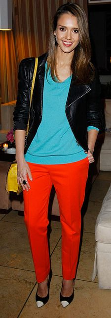 Jessica Alba is our Best Dressed pick, thanks to this serious color party of an outfit.