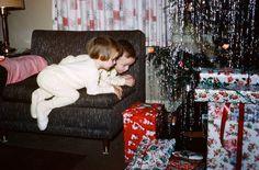 Vintage Christmas photo,  1950's.