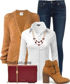 A fashion look from October 2016 featuring fancy top, button cardigan and leather skinny jeans. Browse and shop related looks. Casual Fall Outfits, Fall Winter Outfits, Classy Outfits, Cool Outfits, Look Fashion, Autumn Fashion, Fashion Outfits, Denim Outfit, Polyvore Outfits