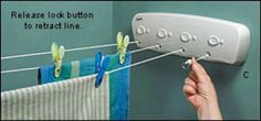 Retractable clothesline. Save on some energy bills.
