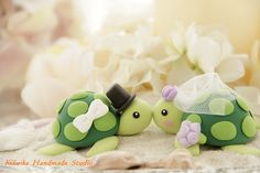 Casual Collection LOVE ANGELS turtles Wedding Cake by kikuike, $90.00 -- cute