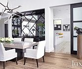 Traditional Gray Dining Room | Dining Rooms | LUXE Source