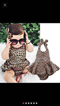 Leopard Romper only @https://www.etsy.com/shop/Lillybabyboutique?ref=l2-shopheader-name  #rompers #leopard #babyclothes #kids
