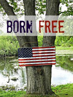 Crib Mattress Spring Turned American Flag - Redhead Can Decorate