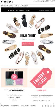 Shoemint // newsletter design