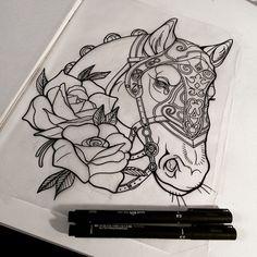 The 50 Best Horseshoe Tattoo Flash Images On Pinterest Horseshoe