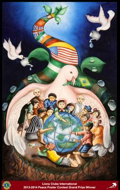 Grand Prize Winner, Tongbram Mahesh Singh, from India (Moirang Lions Club) - 2013-2014 Lions Clubs International Peace Poster Contest