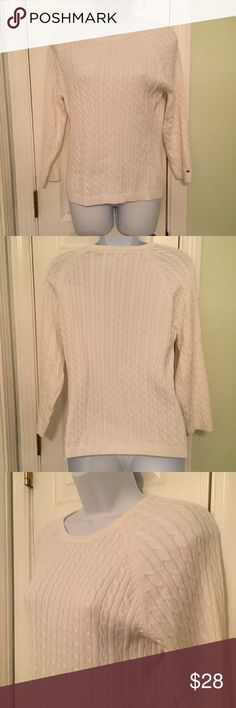 Tommy Hilfiger cable knit sweater. White cable knit sweater. New. Tommy Hilfiger Sweaters