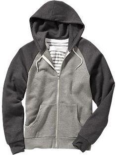 Men's Color-Block Zip-Front Hoodies | Old Navy - medium