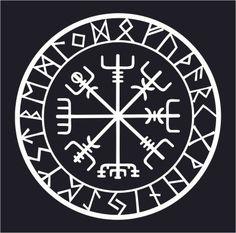 Viking Runes: Vegvisir Compass Talisman