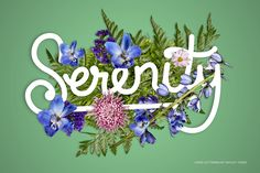 FlowerType for Photoshop by Ian Barnard on @creativemarket