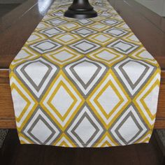 Table Runner Fall Yellow And Taupe Wedding By Newboldhome