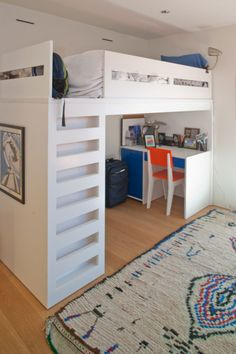 I always used to want a bunk bed/desk set up when I was younger...maybe for my kids, someday.