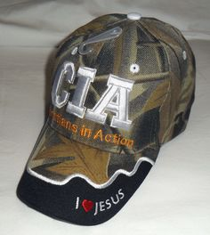 69f32f94359 C.I.A. Christians In Action Christian Hat Baseball Cap Matthew 28 19