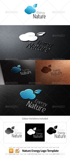 Nature Energy Logo Template   #GraphicRiver         All colors and text can be modified. High resolution file. 100% vector   This file contains:   Layered logo AI, EPS10 files Fully editable  Custom Fonts used in this design can be downloaded from:  .fontsquirrel /fonts/capsuula     Created: 1August12 GraphicsFilesIncluded: VectorEPS #AIIllustrator