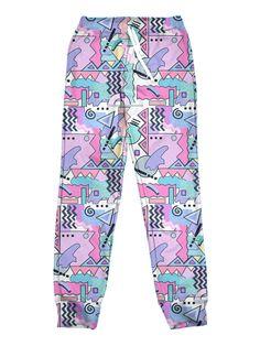 Retrorep Jogger - Public Space xyz - vaporwave aesthetic clothing fashion, kawaii, pastel, pastelgrunge, pastelwave, palewave