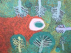 Connaissez-vous l'art aborigène ? C'est mon coup de coeur, depuis des années ! Peuples très anciens, les aborigènes nous parlent de notre humanité originelle dans un langage pictural remontant à la préhistoire. Il en résulte des formes artistiques résolument contemporaines mais que la