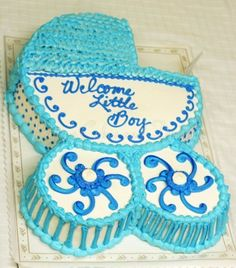 Baby Carriage Cake for Baby Shower Cakes