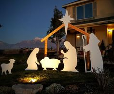 Christmas Outdoor Plastic Nativity Set with by NativitySetShop - http://blog.santaclauswrites.com/index.php/2015/11/14/christmas-outdoor-plastic-nativity-set-with-by-nativitysetshop/