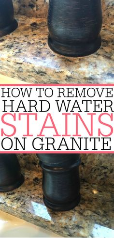 Dealing with a water stain on granite? No problem! It's easy removing water … Dealing with a water stain on granite? No problem! It's easy removing water stains from granite with this simple tip! Water stains will be gone in no time. Deep Cleaning Tips, House Cleaning Tips, Spring Cleaning, Cleaning Hacks, Cleaning Solutions, Cleaning Recipes, Organizing Tips, Cleaning Products, Cleaning Supplies