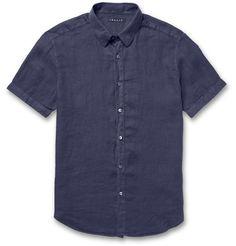 Theory slim-fit linen shirt