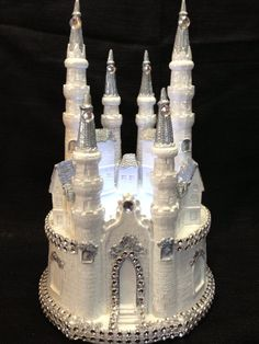 Cinderella Castle Cake Topper In Silver Finally Engagedand Amazing Wedding Cakes, Elegant Wedding Cakes, Wedding Cake Designs, Wedding Cake Toppers, Amazing Cakes, Wedding Ideas, Disney Cake Toppers, Castle Cakes, Disney Inspired Wedding