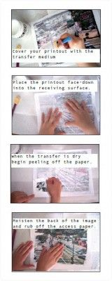 inkjet photo transfer using mod podge