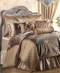 Luxury Bedding Solutions - Legacy 4 PC OS Queen Bedding Ensemble, $1,020.99 (http://www.luxurybeddingsolutions.com/legacy-4-pc-os-queen-bedding-ensemble/)